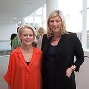 13.05.2016.           <br /> Elaine McCarthy, Past Pupil LSAD and Lucy Leahy, Castletroy Limerick pictured at the much anticipated Limerick School of Art & Design, LIT, (LSAD) Graduate Fashion Show on Thursday 12th May 2016. The show took place at the LSAD Gallery where 27 graduates from the largest fashion degree programme in Ireland showcased their creations. Ranked among the world's top 50 fashion colleges, Limerick School of Art and Design is continuing to mold future Irish designers.. Picture: Alan Place/Fusionshooters