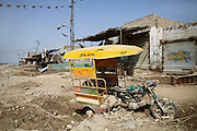 The town of Ghauspur which suffered heavy damage by the flooding, in Sindh province, Pakistan.
