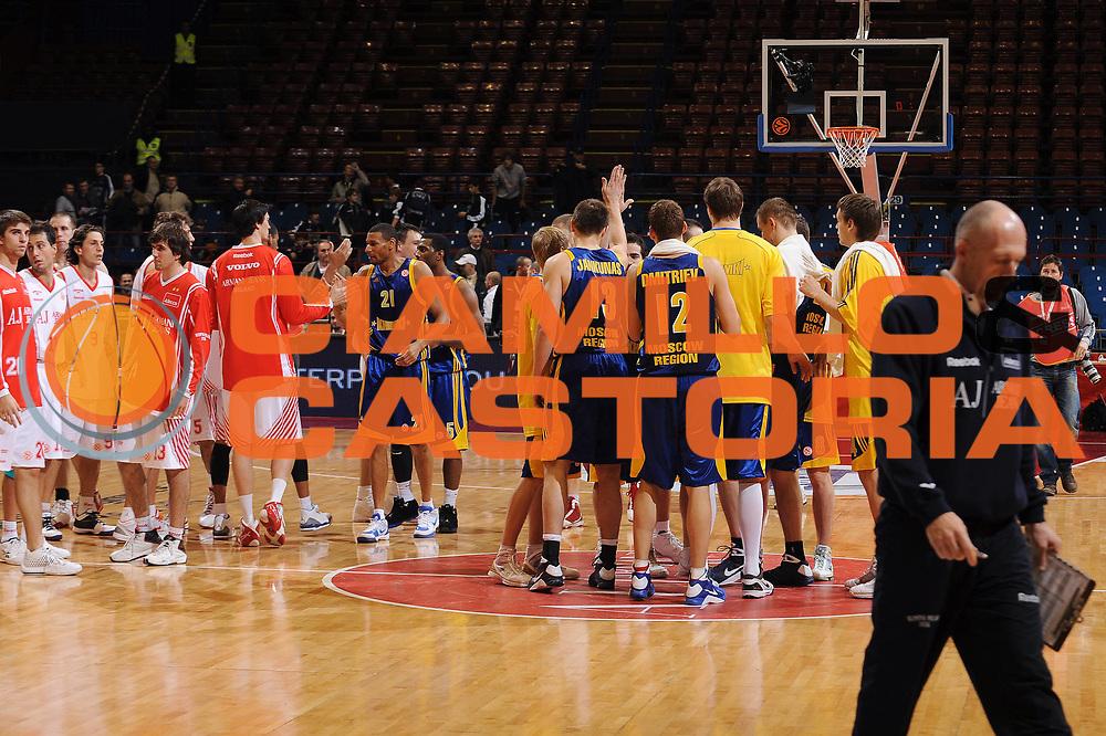 DESCRIZIONE : Milano Eurolega 2009-10 Armani Jeans Milano BC Khimki<br /> GIOCATORE : team Khimki<br /> SQUADRA : BC Khimki<br /> EVENTO : Eurolega 2009-2010<br /> GARA : Armani Jeans Milano BC Khimki<br /> DATA : 12/11/2009<br /> CATEGORIA : ritratto esultanza<br /> SPORT : Pallacanestro<br /> AUTORE : Agenzia Ciamillo-Castoria/A.Dealberto<br /> Galleria : Eurolega 2009-2010<br /> Fotonotizia : Milano Eurolega 2009-10 Armani Jeans Milano BC Khimki<br /> Predefinita :