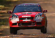 Ed Ordynski & Iain Stewart.mitsubishi lancer evo VII.2003 Falken Rally of Queensland.Imbul State Forest, QLD.13th-15th of June 2003 .(C) Joel Strickland Photographics