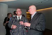 FERGUS HENDERSON; REG GADNEY, The French Laundry reception to celebrate the October opening of the 10-day pop-up ' French laundry restaurant in Harrods. The Penthouse, Harrods. London. 31 August 2011.<br /> <br />  , -DO NOT ARCHIVE-© Copyright Photograph by Dafydd Jones. 248 Clapham Rd. London SW9 0PZ. Tel 0207 820 0771. www.dafjones.com.