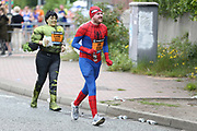 Fancy dress runners during the Simply Health 10K Manchester Great Run in Manchester, Manchester, United Kingdom on 19 May 2019.