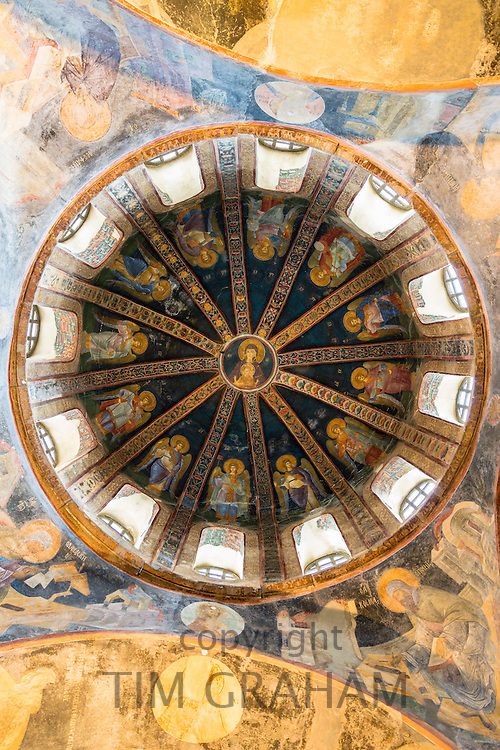 Church of St Saviour in Chora, Kariye Museum St Savior dome fresco madonna Virgin Mary and Christ Child, Istanbul, Turkey
