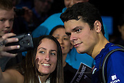 Milos Raonic  of Canada has a selfie with fans during day five of the Barclays ATP World Tour Finals at the O2 Arena, London, United Kingdom on 17 November 2016. Photo by Martin Cole.