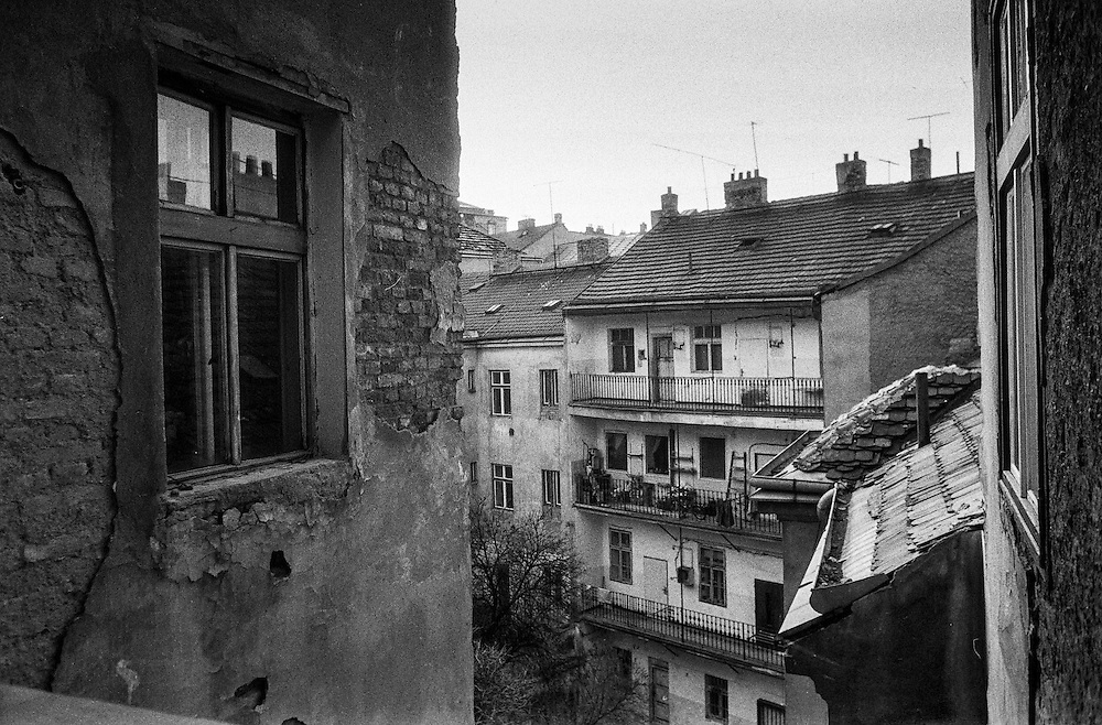 View to a courtyard in Zizkov.