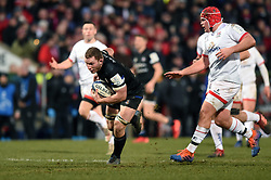 Sam Underhill of Bath Rugby takes on the Ulster defence - Mandatory byline: Patrick Khachfe/JMP - 07966 386802 - 18/01/2020 - RUGBY UNION - Kingspan Stadium - Belfast, Northern Ireland - Ulster Rugby v Bath Rugby - Heineken Champions Cup