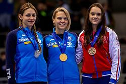 14-01-2018 DUI: ISU European Short Track Championships 2018 day 3, Dresden<br /> Martina Valcepina ITA #138, Arianna Fontana ITA # 9, Sofia Prosvirnova RUS #13