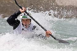 Simon Artelj of Slovenia competes in the Men's Kayak K1 at Kayak & Canoe ICF slalom race Tacen 2010 on May 16, 2010 in Tacen, Ljubljana, Slovenia. (Photo by Vid Ponikvar / Sportida)