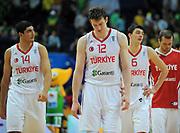 DESCRIZIONE : Vilnius Lithuania Lituania Eurobasket Men 2011 Second Round Turchia Francia Turkey France<br /> GIOCATORE : Team Turchia Turkey<br /> SQUADRA : Turchia Turkey<br /> EVENTO : Eurobasket Men 2011<br /> GARA : Turchia Francia Turkey France<br /> DATA : 07/09/2011 <br /> CATEGORIA : delusione disappointment<br /> SPORT : Pallacanestro <br /> AUTORE : Agenzia Ciamillo-Castoria/T.Wiendesohler<br /> Galleria : Eurobasket Men 2011 <br /> Fotonotizia : Vilnius Lithuania Lituania Eurobasket Men 2011 Second Round Turchia Francia Turkey France<br /> Predefinita :