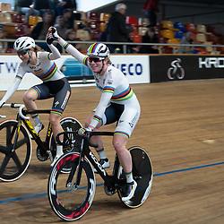 29-12-2019: Wielrennen: NK Baan: Alkmaar<br />Kirsten Wild en Amy Pieters pakken de titel koppelkoers