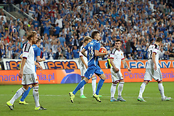 29.07.2015, INEA Stadion, Poznan, POL, UEFA CL, Lech Poznan vs FC Basel, Qualifikation, 3. Runde, Hinspiel, im Bild (S) DENIS THOMALLA BRAMKA GOL RADOSC // during the UEFA Champions League Qualifier, third round, first Leg match between Lech Posen and FC Basel at the INEA Stadion in Poznan, Poland on 2015/07/29. EXPA Pictures © 2015, PhotoCredit: EXPA/ Newspix/ Wojciech Klepka<br /> <br /> *****ATTENTION - for AUT, SLO, CRO, SRB, BIH, MAZ, TUR, SUI, SWE only*****