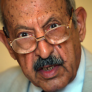 17 June 2004.Baghdad, Iraq..Father of Iraq's WMD's.Dr Nasser Hindwi was for many years Iraq's leader in the developement of Weapons of Mass Destruction (WMD's)..In the 1990's he was removed from his position after a disagreement with a fellow scientist working on the programme..He is now scentific director at a new center aimed at rehabilitating those involved in WMD programmes and putting their skills to new uses.