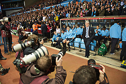 BIRMINGHAM, ENGLAND - Monday, October 5, 2009: Manchester City's manager Mark Hughes before the Premiership match against Aston Villa at Villa Park. (Pic by David Rawcliffe/Propaganda)