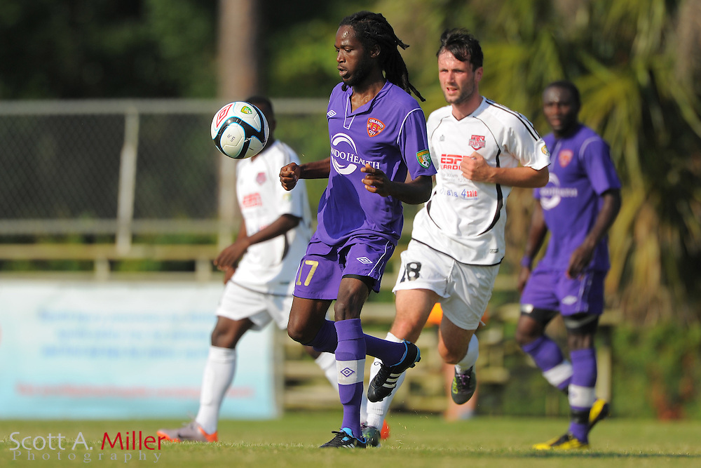 Orlando City U23s midfielder Ricardo Campbell (17) in action during Orlando's game against the Ocala Stampede at the Seminole Soccer Complex Saturday on May 26, 2012 in Sanford, Fla. ...©2012 Scott A. Miller..