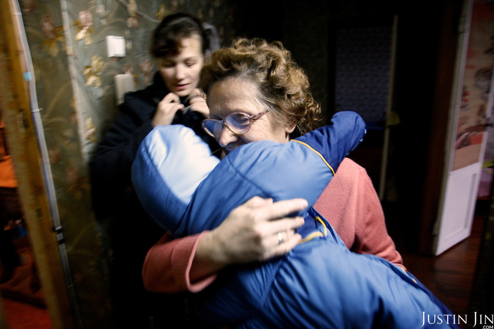 Women at a crisis shelter in Chelyabinsk