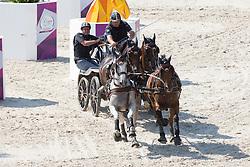 Brasseur Felix, (BEL), Amicello, Luxus Boy, Racciano, Sunfire<br /> Marathon Driving Competition<br /> European Championships - Aachen 2015<br /> © Hippo Foto - Leanjo de Koster<br /> 22/08/15