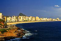 View of Leblon and Ipanema beaches from Vidigal Beach, Rio de Janeiro, Brazil