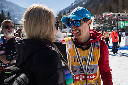 Kamil Stoch (POL) celebrates trophy ceremony with his girlfriend after the 2nd round of the Ski Flying Hill Individual Competition at Day 4 of FIS Ski Jumping World Cup Final 2019, on March 24, 2019 in Planica, Slovenia. Photo Peter Podobnik / Sportida