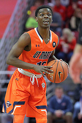 10 December 2016:  Malik Pugh during an NCAA  mens basketball game between the UT Martin Skyhawks and the Illinois State Redbirds in a non-conference game at Redbird Arena, Normal IL