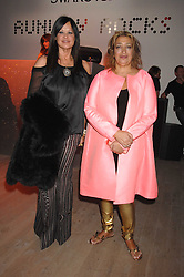 Left to right, RONNIE SASSOON and ZAHA HADID at the Swarovski 'Runwy Rocks' held at the Phillips de Pury Gallery, Howick Place, London on 10th June 2008.<br /><br />NON EXCLUSIVE - WORLD RIGHTS
