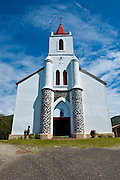 Chruch near Pouebo on the east coast of Grande Terre, New Caledonia, Melanesia, South Pacific