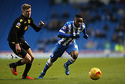 Brighton midfielder, winger, Kazenga LuaLua (30) during the Sky Bet Championship match between Brighton and Hove Albion and Bolton Wanderers at the American Express Community Stadium, Brighton and Hove, England on 13 February 2016.