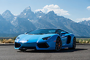 July 31, 2016 - Lamborghini Aventador filming near Jackson, Wyoming