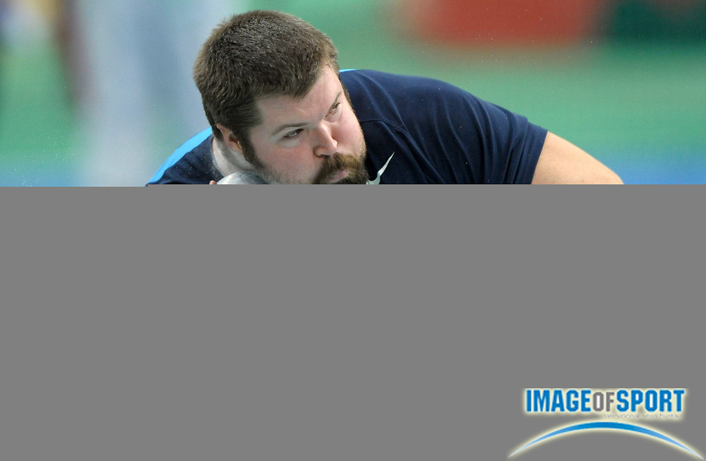Mar 13, 2010; Doha, QATAR; Christian Cantwell (USA) won the shot put at 71-7 1/2 (21.83m) in the IAAF World Championships in Athletics at the Aspire Dome.