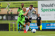 Forest Green Rovers Marcus Kelly (10) is fouled by Bromley's Reece Prestedge(16) during the Vanarama National League match between Forest Green Rovers and Bromley FC at the New Lawn, Forest Green, United Kingdom on 17 September 2016. Photo by Shane Healey.