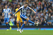 Oliver Norwood shoots during the EFL Sky Bet Championship match between Brighton and Hove Albion and Preston North End at the American Express Community Stadium, Brighton and Hove, England on 15 October 2016.
