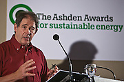 Jonathon Porritt during a discussion about new politics. Local solutions to climate change. The Ashden Awards Imperial College Conference, Royal Geographical Society, London.