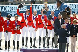 Team Belgium, Wathelet Gregory, Verlooy Jos, Devos Pieter, Guery Jerome, Weinberg Peter, GER<br /> European Championship Jumping<br /> Rotterdam 2019<br /> © Hippo Foto - Dirk Caremans