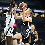 NEW YORK, NEW YORK - April 08:  Ashley Joens #1 Iowa City H.S. Iowa City, IA drives to the basket during the Jordan Brand Classic, National Girls Teams All-Star basketball game. The Jordan Brand Classic showcases the best male and female high school basketball players who compete in the exhibition games at the The Barclays Center, Brooklyn, New York on April 08, 2018 in New York City. (Photo by Tim Clayton/Corbis via Getty Images)