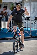 Raymond van der Biezen at the 2018 UCI BMX World Championships in Baku, Azerbaijan.