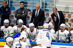 Michael Zettel, assistant coach of Slovenia and Ivo Jan, head coach of Slovenia during ice hockey match between Hunngary and Kazakhstan at IIHF World Championship DIV. I Group A Kazakhstan 2019, on May 3, 2019 in Barys Arena, Nur-Sultan, Kazakhstan. Photo by Matic Klansek Velej / Sportida