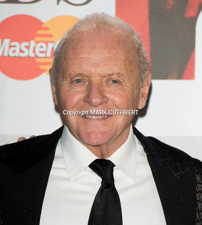 Sir Anthony Hopkins arriving at the 2012 Classic Brit Awards at the Royal Albert Hall in London.