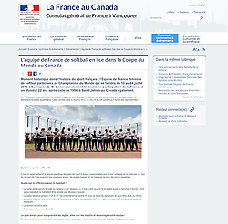 Team France Women Softball, French Consulat website, 2016.