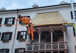 30.05.2015, Altstadt, Innsbruck, AUT, Golden Roof Challenge, Stabhochsprung Frauen, im Bild Fabiana Murer (BRA) // Fabiana Murer of Germany in action during Women´s Pole Vault at Golden Roof Challenge in Innsbruck, Austria on 2015/05/30. EXPA Pictures © 2015, PhotoCredit: EXPA/ Jakob Gruber