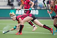 Eindhoven - Oranje Rood - Kampong  Dames, Hoofdklasse Hockey Heren, Seizoen 2017-2018, 15-04-2018, Oranje Rood - Kampong 3-1, Yibbi Jansen (Oranje-Rood)<br /> <br /> (c) Willem Vernes Fotografie