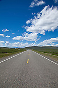 US Route 89 in the Great Plains of northern Montana