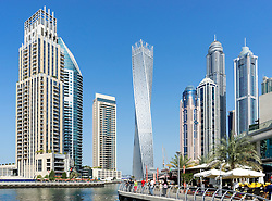 Skyscrapers at Marina district in Dubai United Arab Emirates