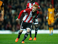 Ryan Woods of Brentford during the Sky Bet Championship match between Brentford and Hull City at Griffin Park, London<br /> Picture by Mark D Fuller/Focus Images Ltd +44 7774 216216<br /> 03/11/2015