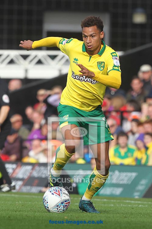 Josh Murphy of Norwich in action during the Sky Bet Championship match at Carrow Road, Norwich<br /> Picture by Paul Chesterton/Focus Images Ltd +44 7904 640267<br /> 23/09/2017