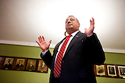 Paul LePage, Republican Governor of Maine, in the entryway to Waterville City Hall on while serving as cities mayor. Tuesday, June 22, 2010. Craig Dilger for The New York Times.