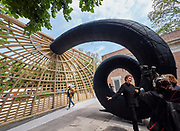 "58th Art Biennale Venice ""May You Live in Interesting Times"" curated by Ralph Rugoff. U.S.A. Pavilion. Martin Puryear, ""Liberty"". Curator Brooke Kamin Rapaport giving interview."