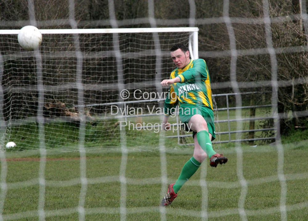 11/4/2006.Damien Raggetrt who plays for East End in Bennettsbridge County Kilkenny and scored a goal after 7 seconds..Picture Dylan Vaughan.