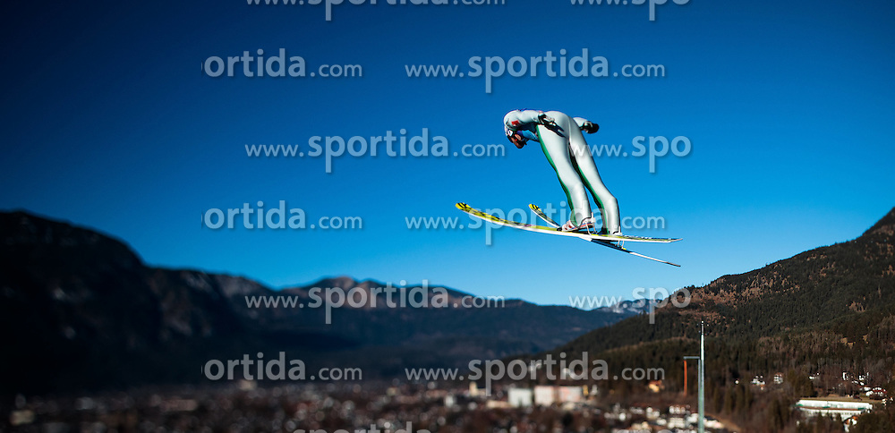 31.12.2016, Olympiaschanze, Garmisch Partenkirchen, GER, FIS Weltcup Ski Sprung, Vierschanzentournee, Garmisch Partenkirchen, Training, im Bild Andreas Stjernen (NOR), mit einem Tilt & Shift Objektiv fotografiert // Andreas Stjernen of Norway photographed with a Tilt & Shift lens during his Practice Jump for the Four Hills Tournament of FIS Ski Jumping World Cup at the Olympiaschanze in Garmisch Partenkirchen, Germany on 2016/12/31. EXPA Pictures © 2017, PhotoCredit: EXPA/ JFK