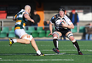 Pontypridds Sean Moore<br /> <br /> Photographer Mike Jones/Replay Images<br /> <br /> Principality Premiership Merthyr v Pontypridd - Saturday 17th February 2018 - The Wern Merthyr Tydfil<br /> <br /> World Copyright &copy; Replay Images . All rights reserved. info@replayimages.co.uk - http://replayimages.co.uk