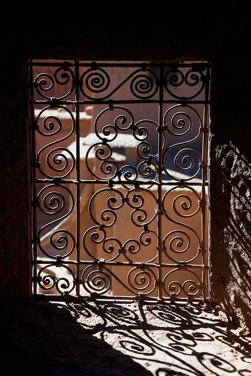 Window decoration of the Kasbah Amridil, Skoura, Morocco.