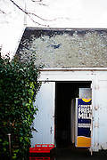 View of milk fridges inside the inner city stables Como House Melbourne